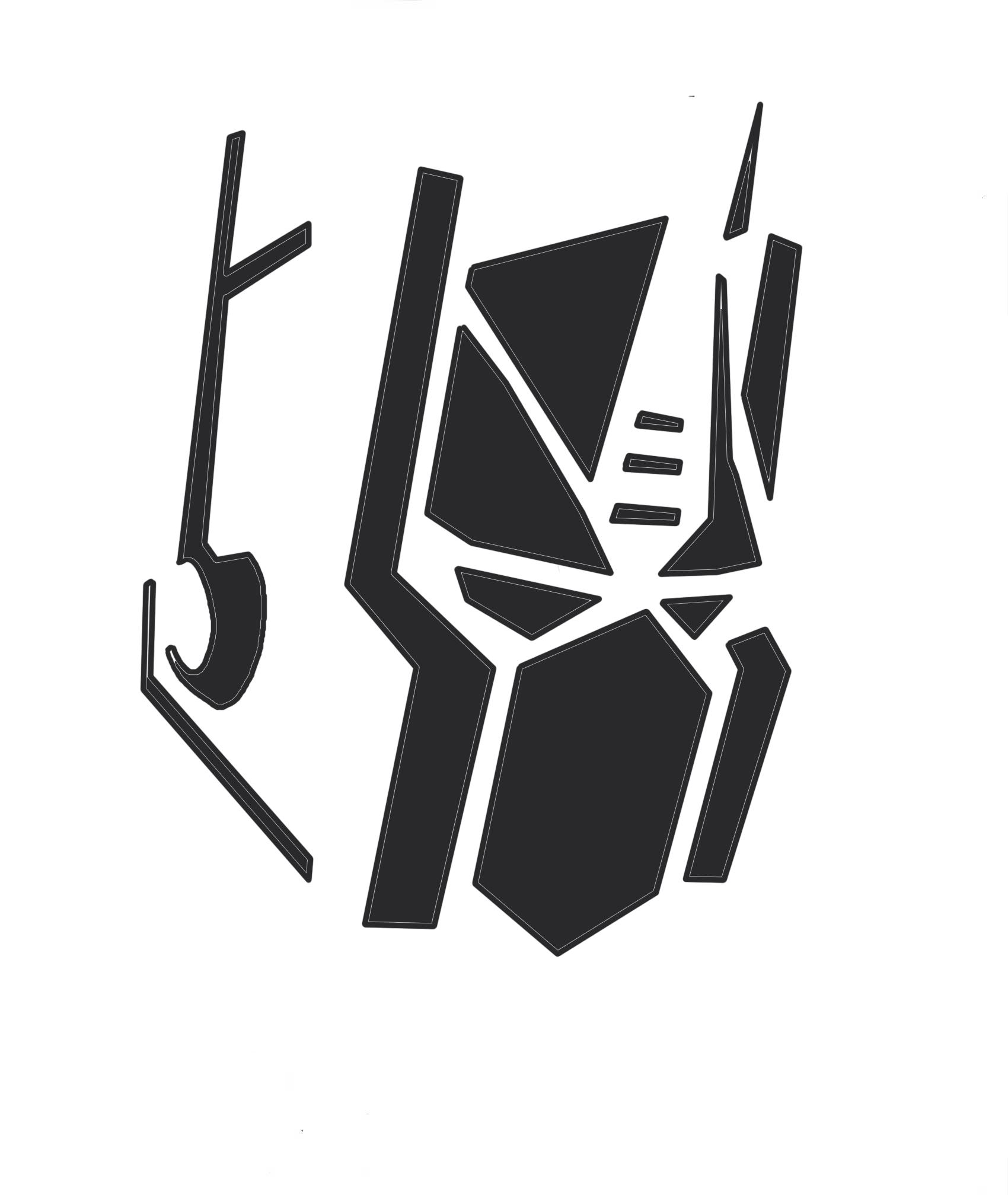 2d Artwork Optimus Prime Pumpkin Stencil