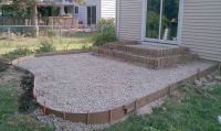 Poured Concrete Patio Designs   ... patio and steps were ...