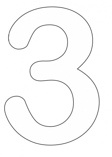 Coloring Pages of Number 3 427x600 Number Three coloring