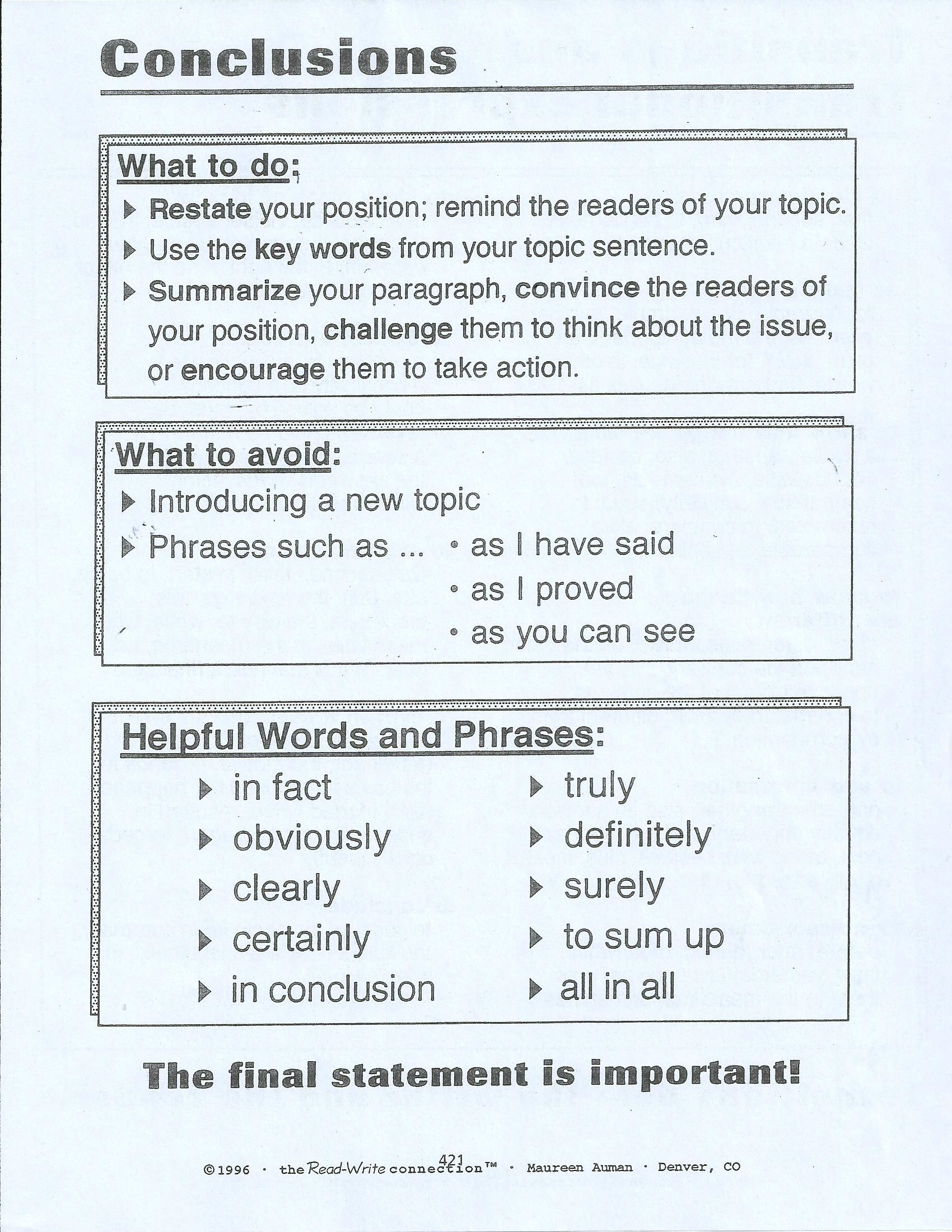 Good Essay Conclusions 17 Best Images About Conclusions Writing An
