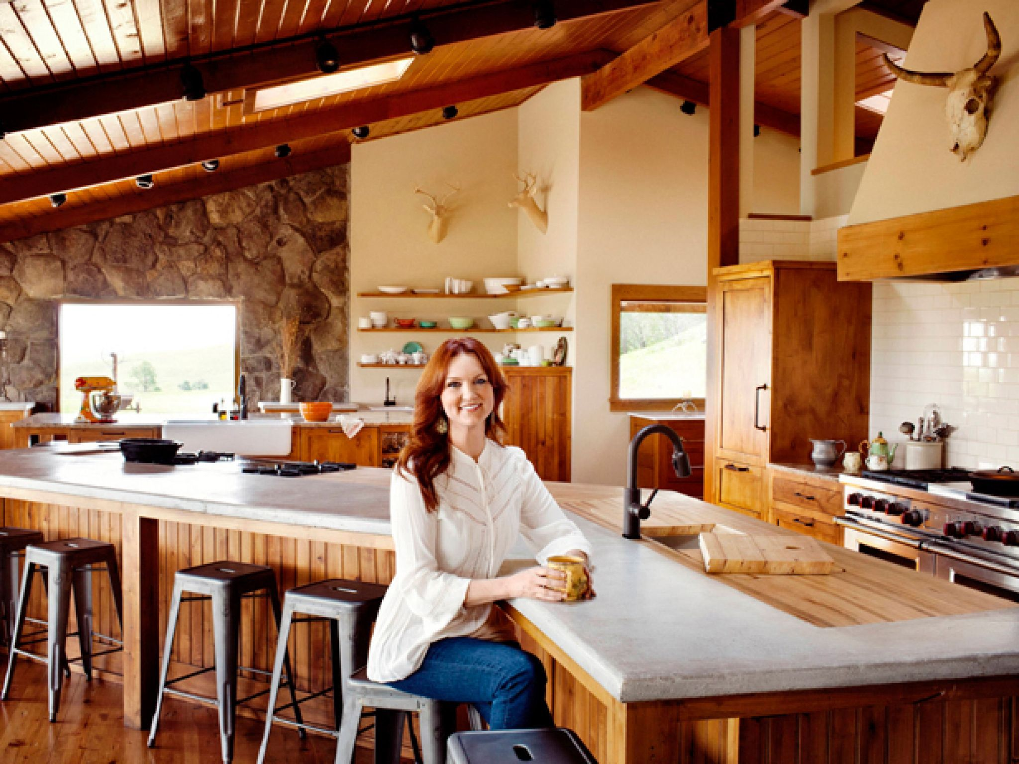kitchen remodel okc freestanding cabinet star ree drummond city girl ranch and pioneer