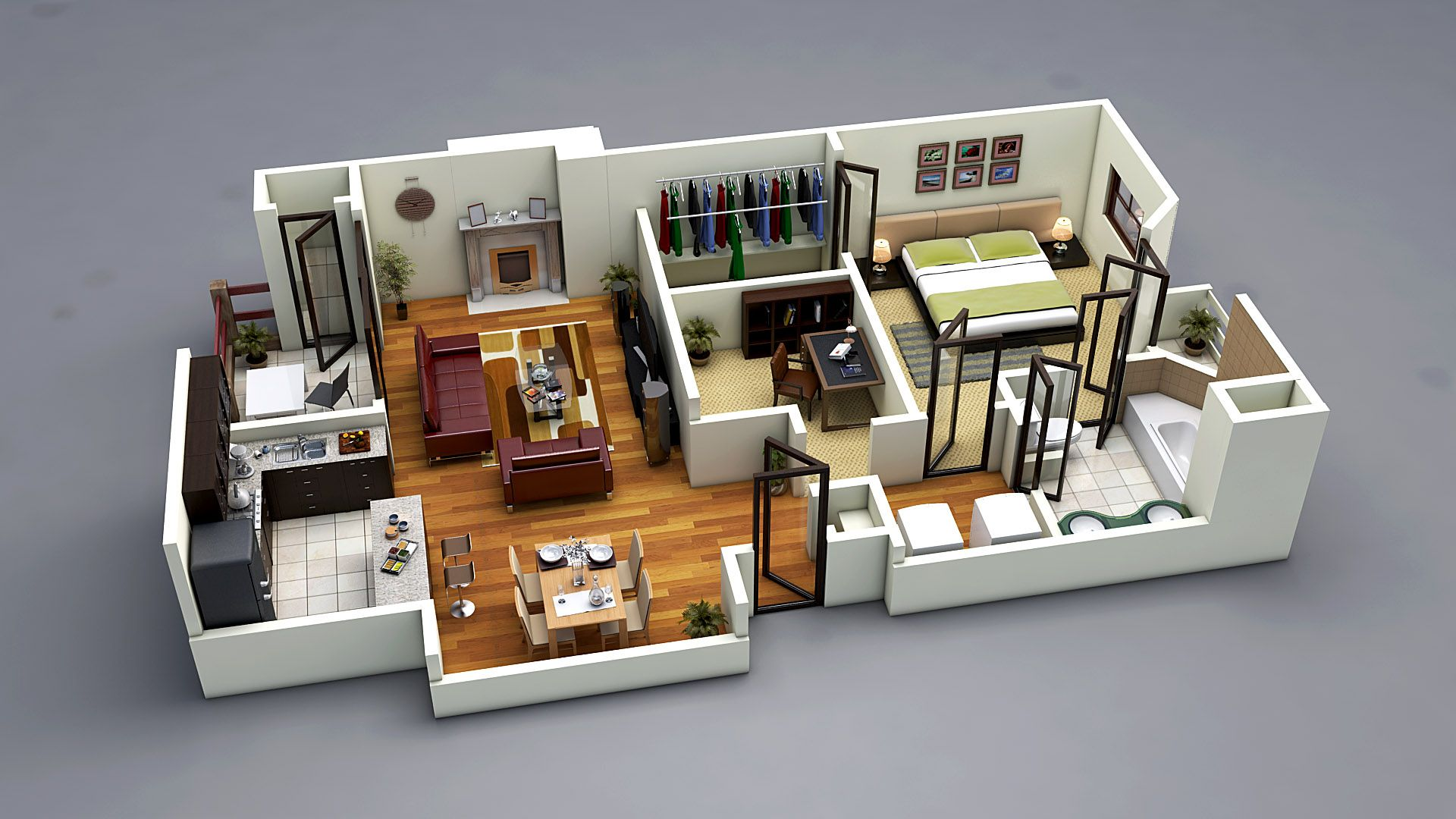 Photo Realistic 3D Floor Plan 3Ds Max Vray 3dfloorplanz