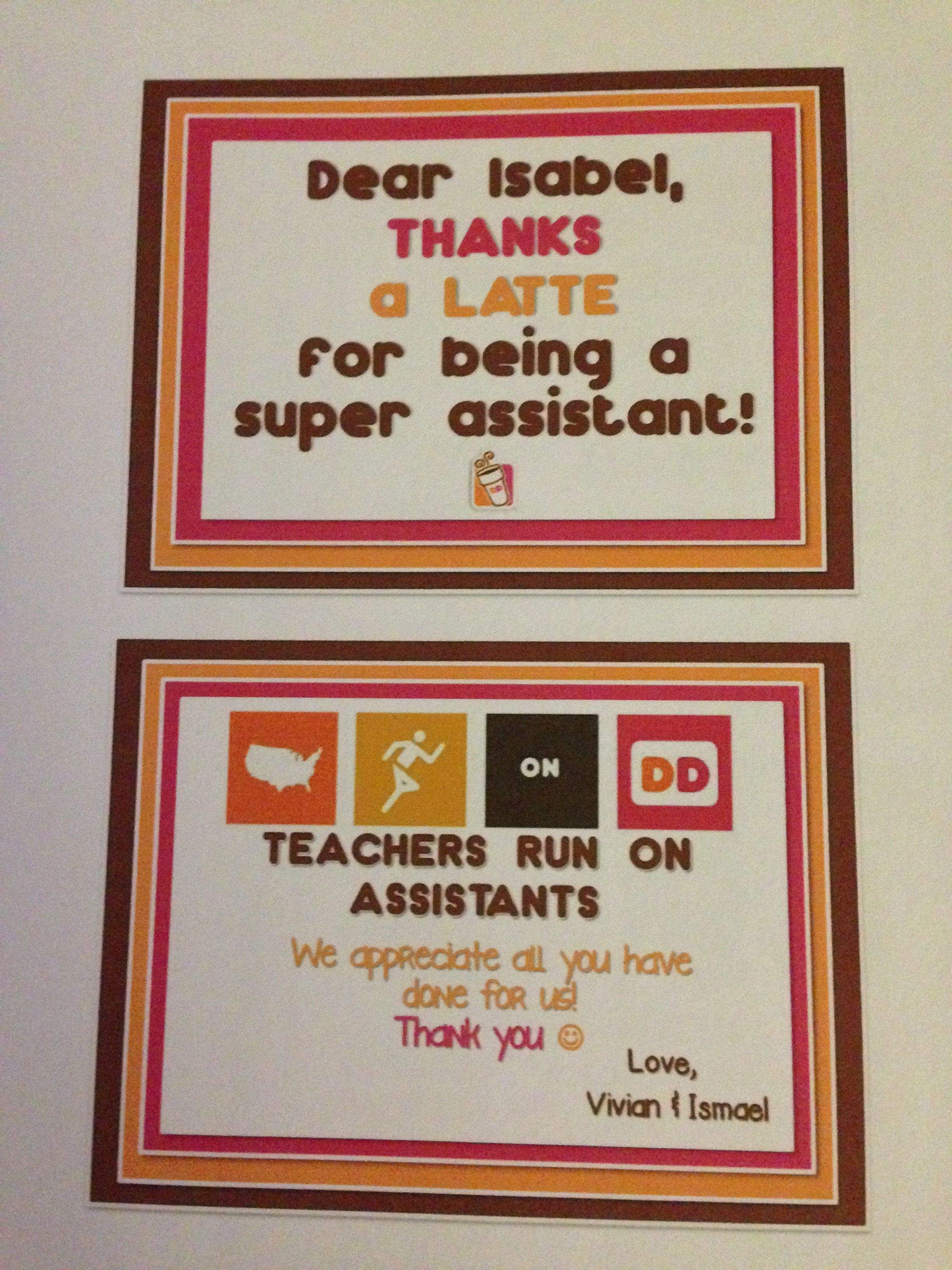 Thank You T Tag For A Teacher Assistant Eal For A