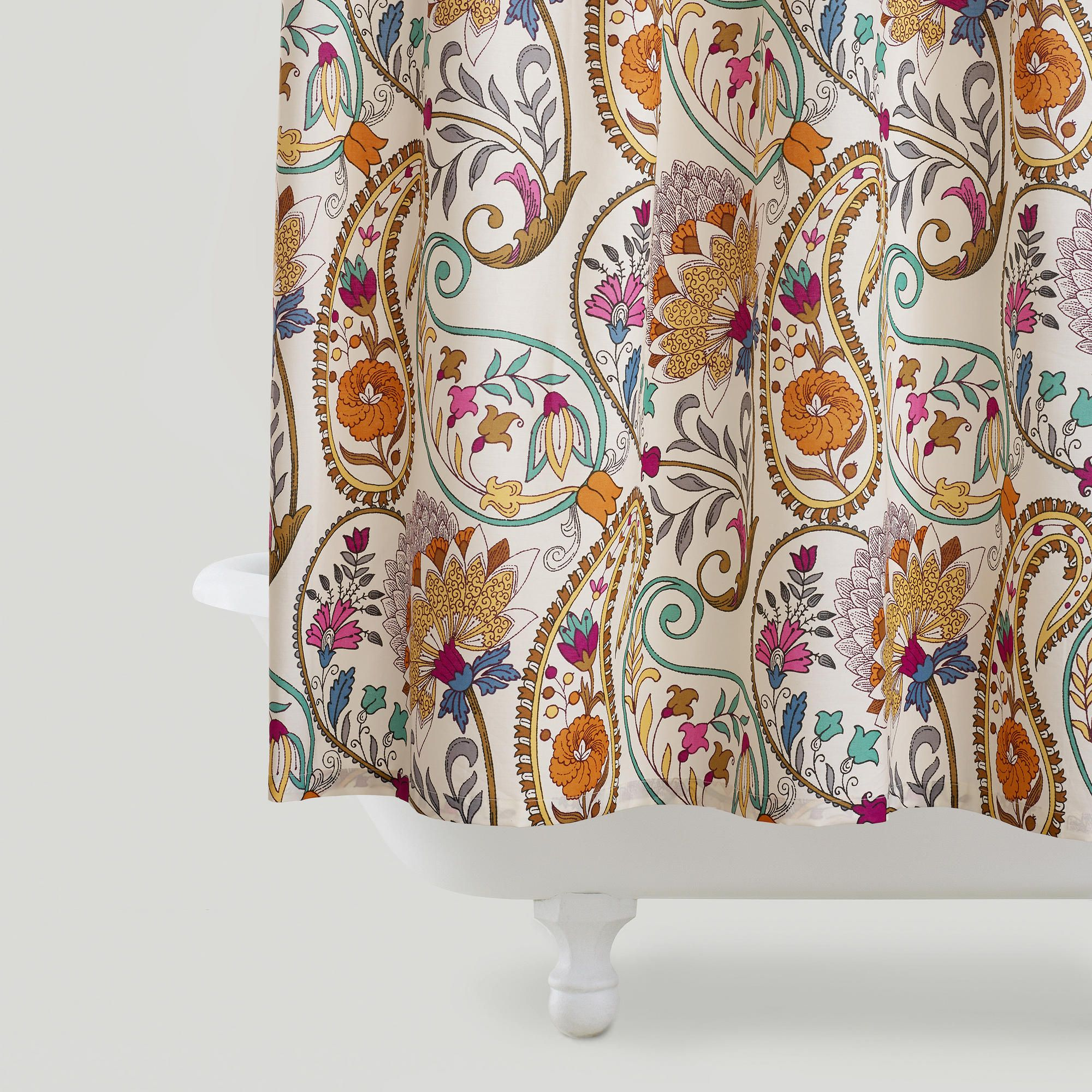 Great Paisley Floral Shower Curtain Tablecloths Picnics And World