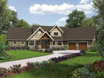 Craftsman Style House Plans with Angled Garages
