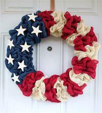 Patriotic Decorations: How to Make a Burlap Wreath ...