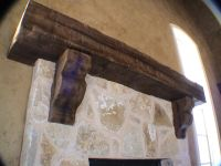 Custom Rustic Mantel with corbels | Rustic Fireplace ...