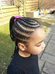 simple cute cornrows hair