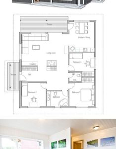 Contemporary floor plan like the idea of having two slightly smaller versions these with  courtyard deck connecting them one as living sleeping also de petite maison pinterest house plans rh