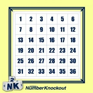 Image result for number knockout board