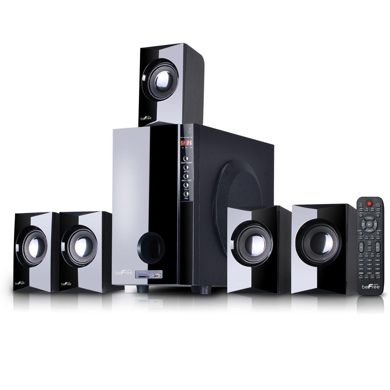 Home theater systems befree sound channel surround speaker system  bluetooth also rh pinterest