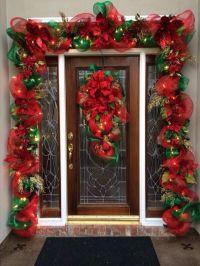 Decorated front Door for Christmas | Front Door ...