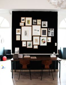 Wall galleries also workspace frames home art photo display pinterest black rh