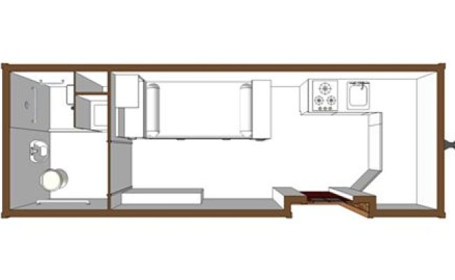Tiny House Handicap Accessible Floor Plan Small And
