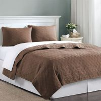 Chocolate Brown Velvet Touch Twin XL Coverlet Quilt ...