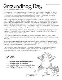 groundhog day comprehension worksheets - Google Search ...