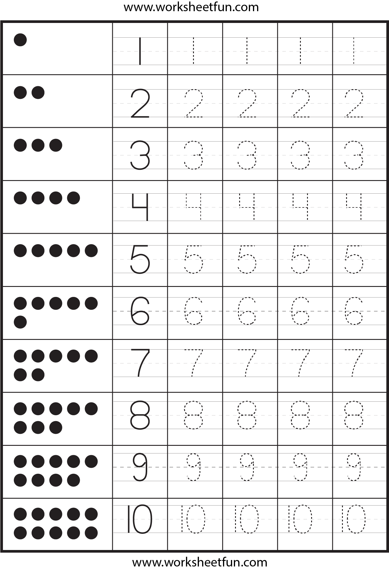 Tons Of Tracing Number And Letter Practice