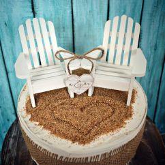 Adirondack Chair Cake Topper Eames Arm White Chairs Beach Wedding