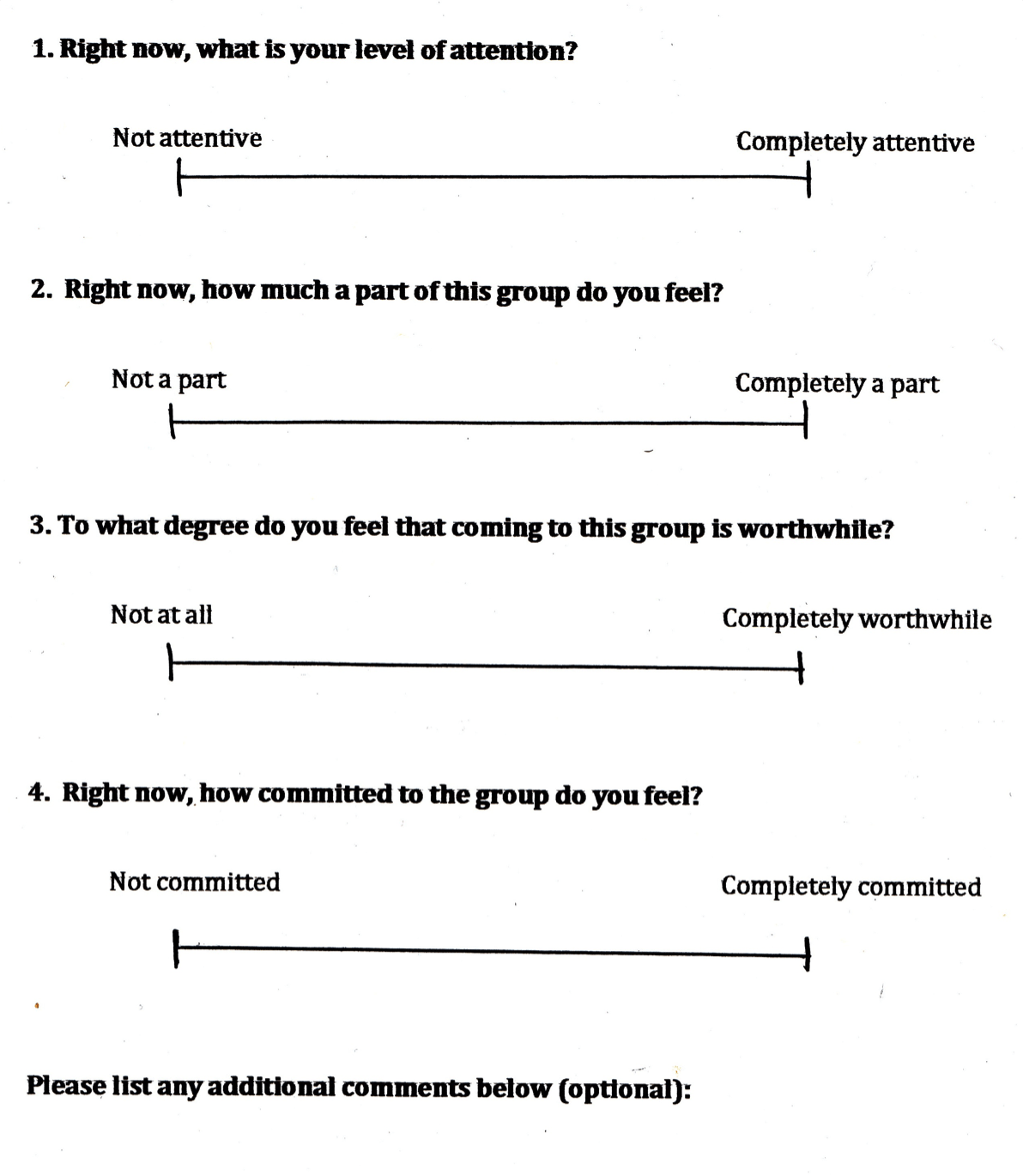 Group Therapy Worksheet Ideas