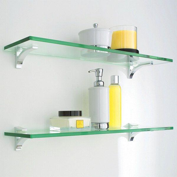 Glass Shelf Clip Kits  Glass shelves Shelves and Chrome