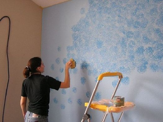 Sponge Painting Pattern