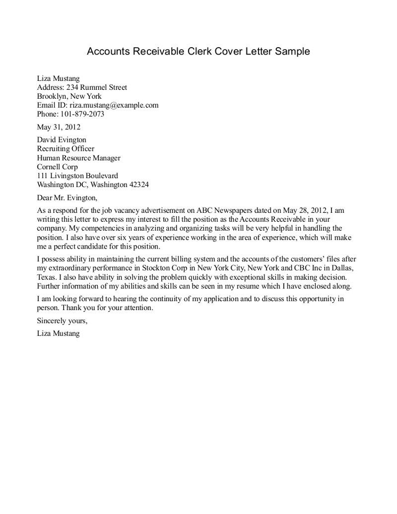 Account Payable Cover Letter Templates  ENGLISH GRAMMAR  Pinterest  Cover letter template and
