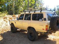 fj60 roof rack and lights