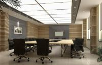 Elegant conference room indoor wall unit design
