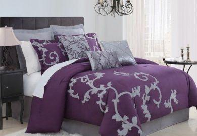 Purple And Black Bedding On Pinterest Black Bedding