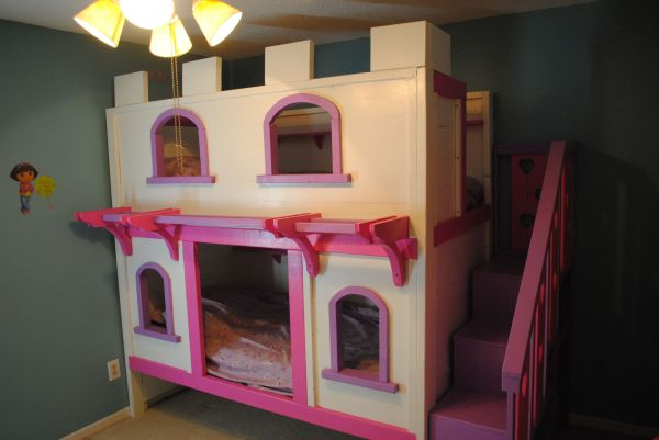 Girls' Princess Castle Bunk Beds Diy Projects