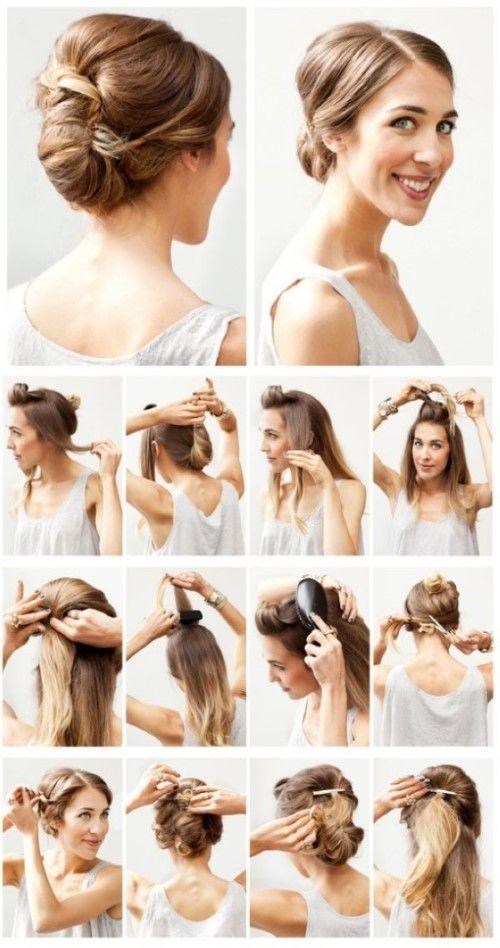 Einfache Frisuren Für Mittellange Haare 6 Ideen Haare