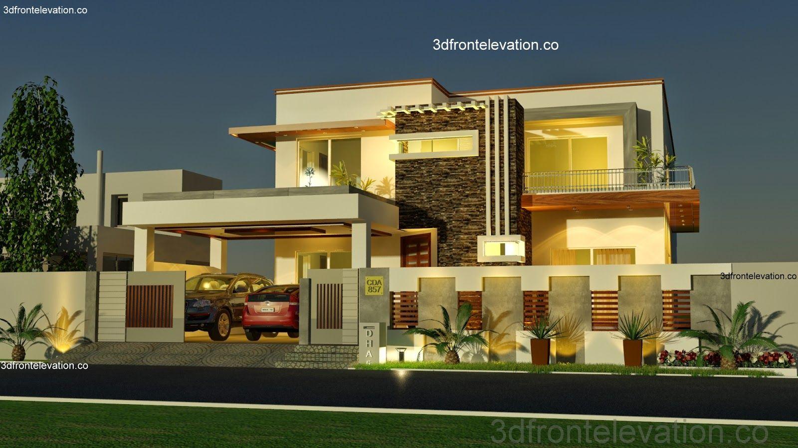 Pakistani House Designs Floor Plans Fachadas Pinterest House