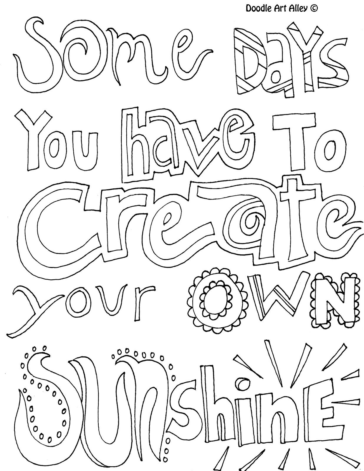 All quotes coloring pages (great quotes doodle page, great
