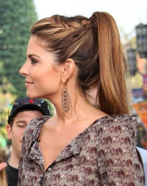 Top 40 Maria Menounos Gorgeous Hair Styles High Ponytail