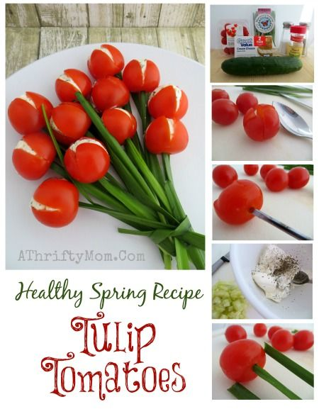 Healthy Spring Recipe Tulip Tomatoes Fun Vegetable Side Dishes