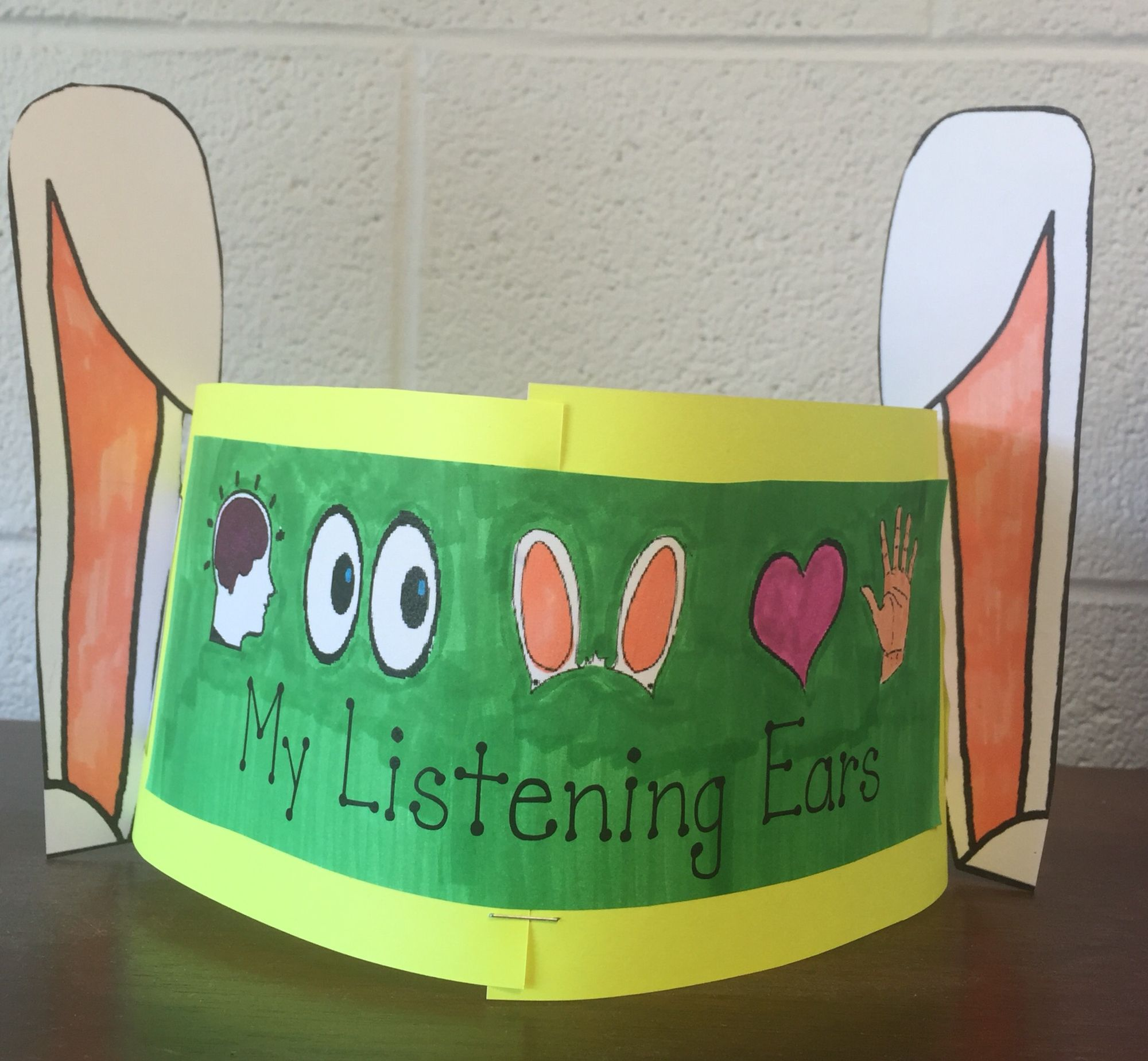 Kindergarten Listening Ears To Go Along With Howard B