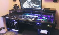 Desk Computer Case ULTIMATE Gaming PC Custom DESK Build ...