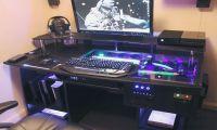 Desk Computer Case ULTIMATE Gaming PC Custom DESK Build ...