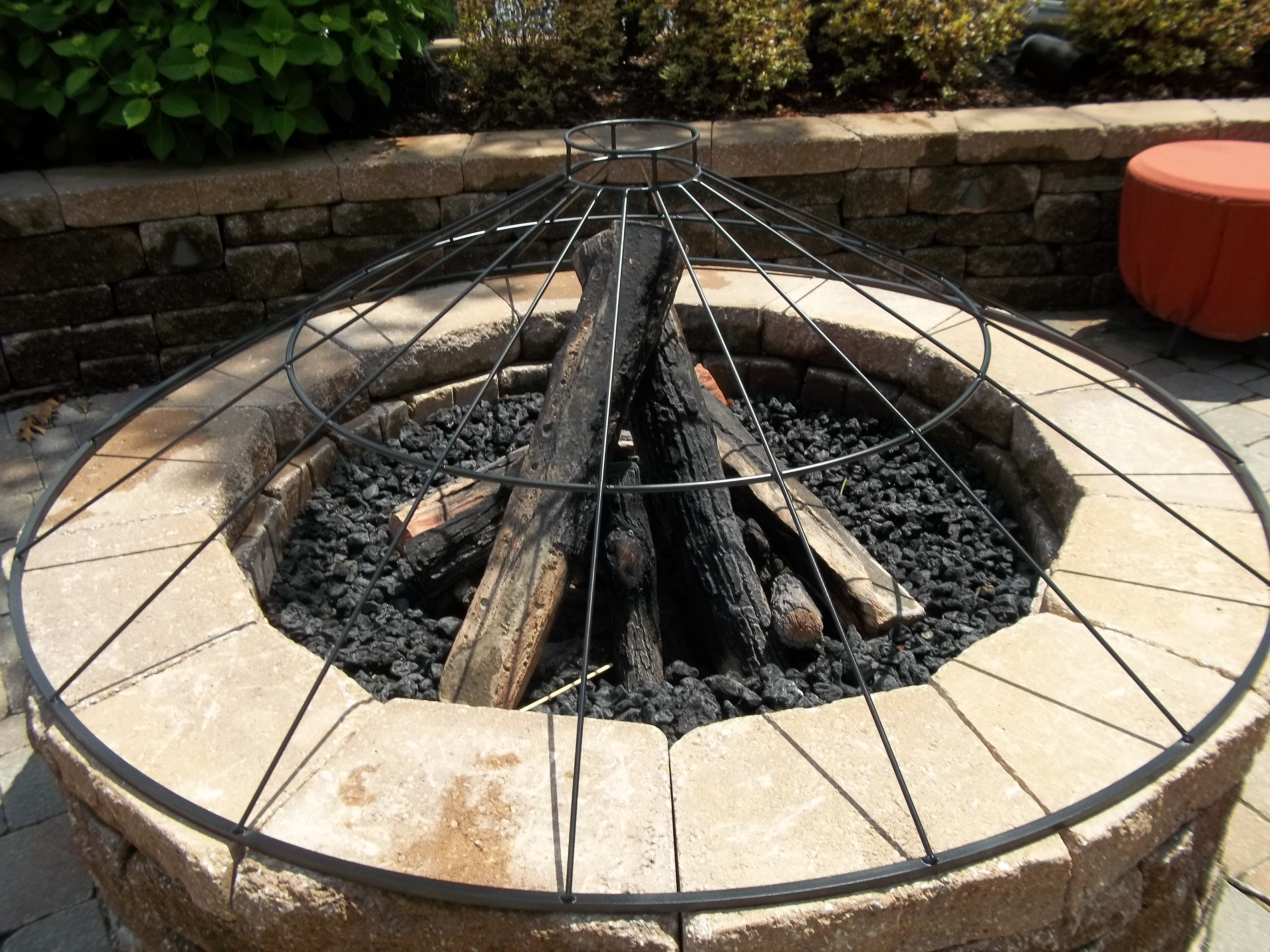 Custom Fire Pit Cover to Go Under Cloth Cover httpwww