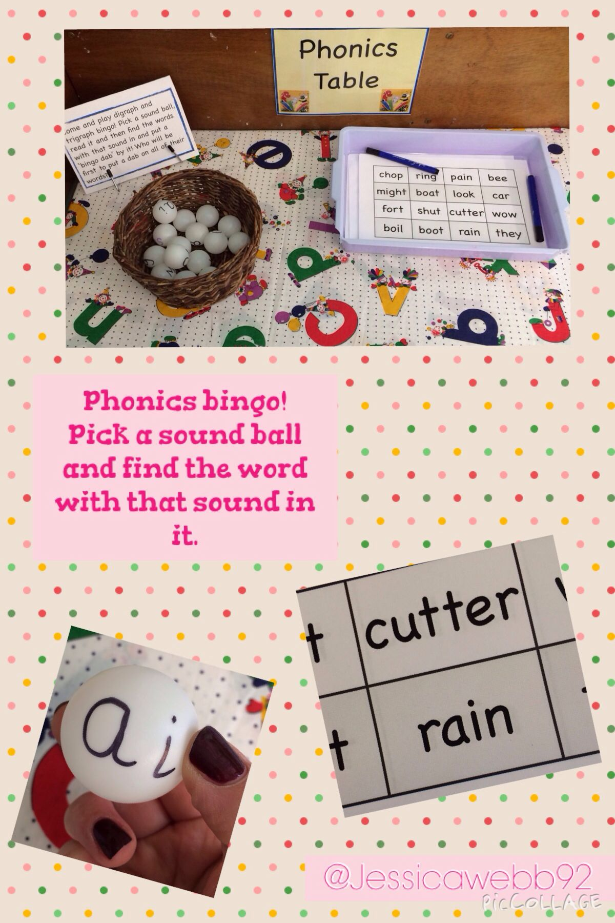Phonics Bingo Pick A Ball Read The Sound And Find The Word With The Sounds In Eyfs