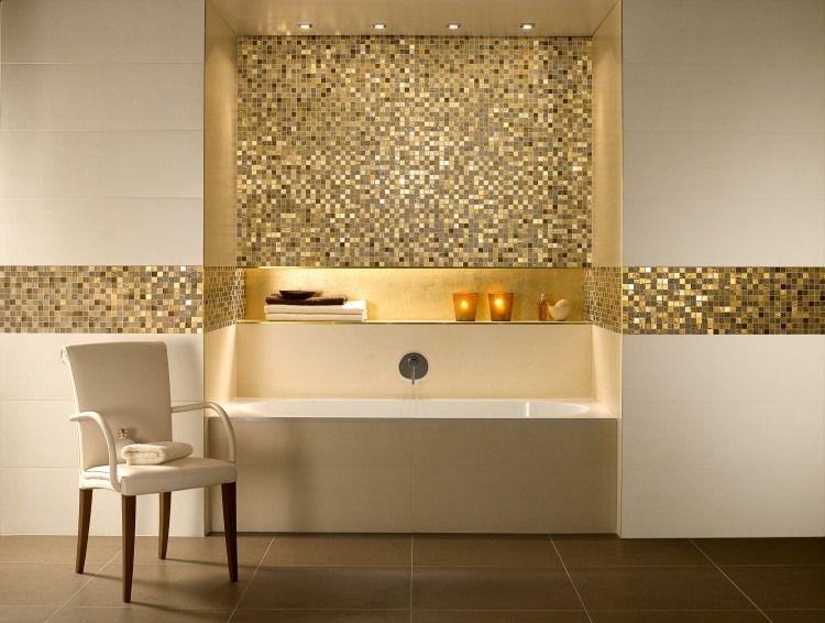 Deco Salle Bains Carrelage Blanc Neige Mosaique Doees
