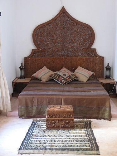 Bohemian Bedroom Etnic Chic Moroccan Headboard Decor