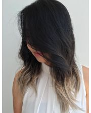 fascinating black ombre hair