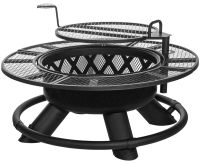 King Ranch Fire Pit with Grilling Grate SRFP96 by Big Horn ...