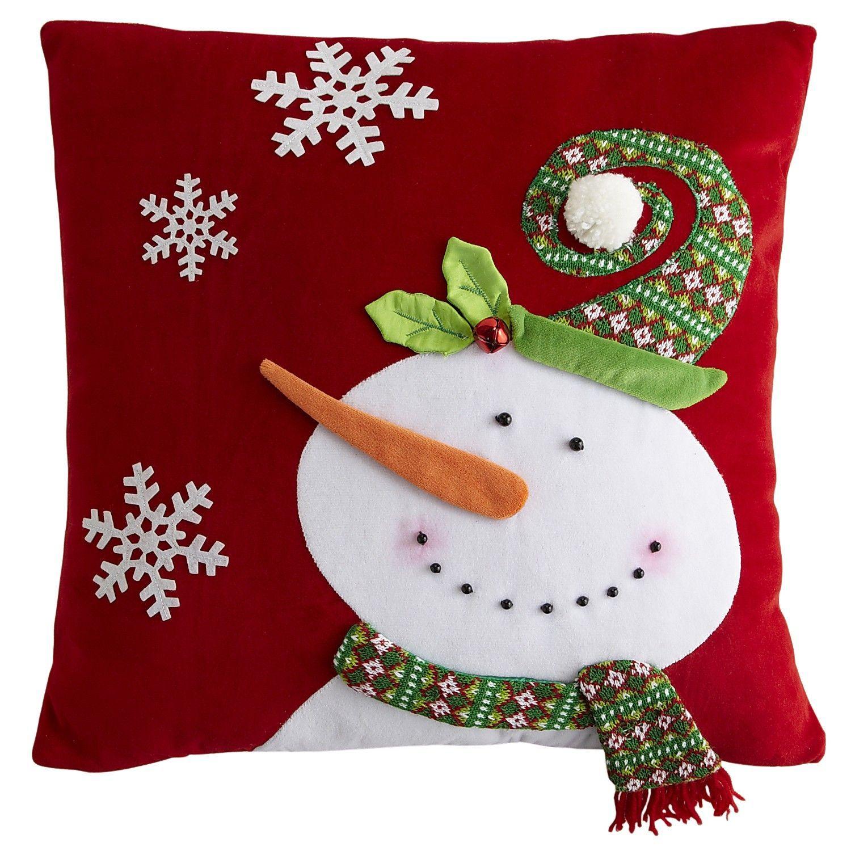 Snowman Pillow  Xmas lovin  Pinterest  Felt snowman