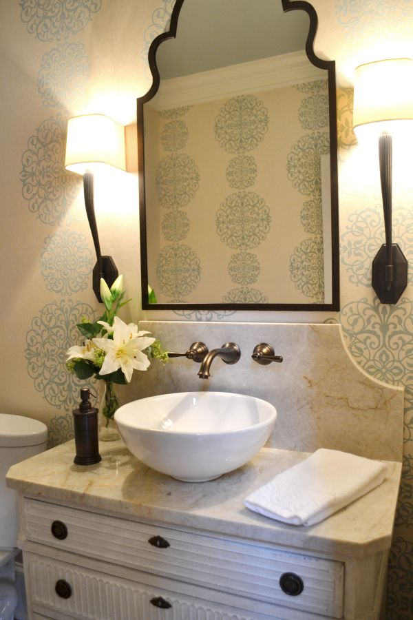 Elegant Powder Room - Google Luxury Bathrooms