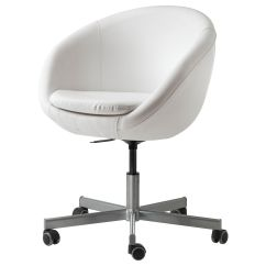 Cute Desk Chairs Dining Ikea Skruvsta Swivel Chair Idhult White Room