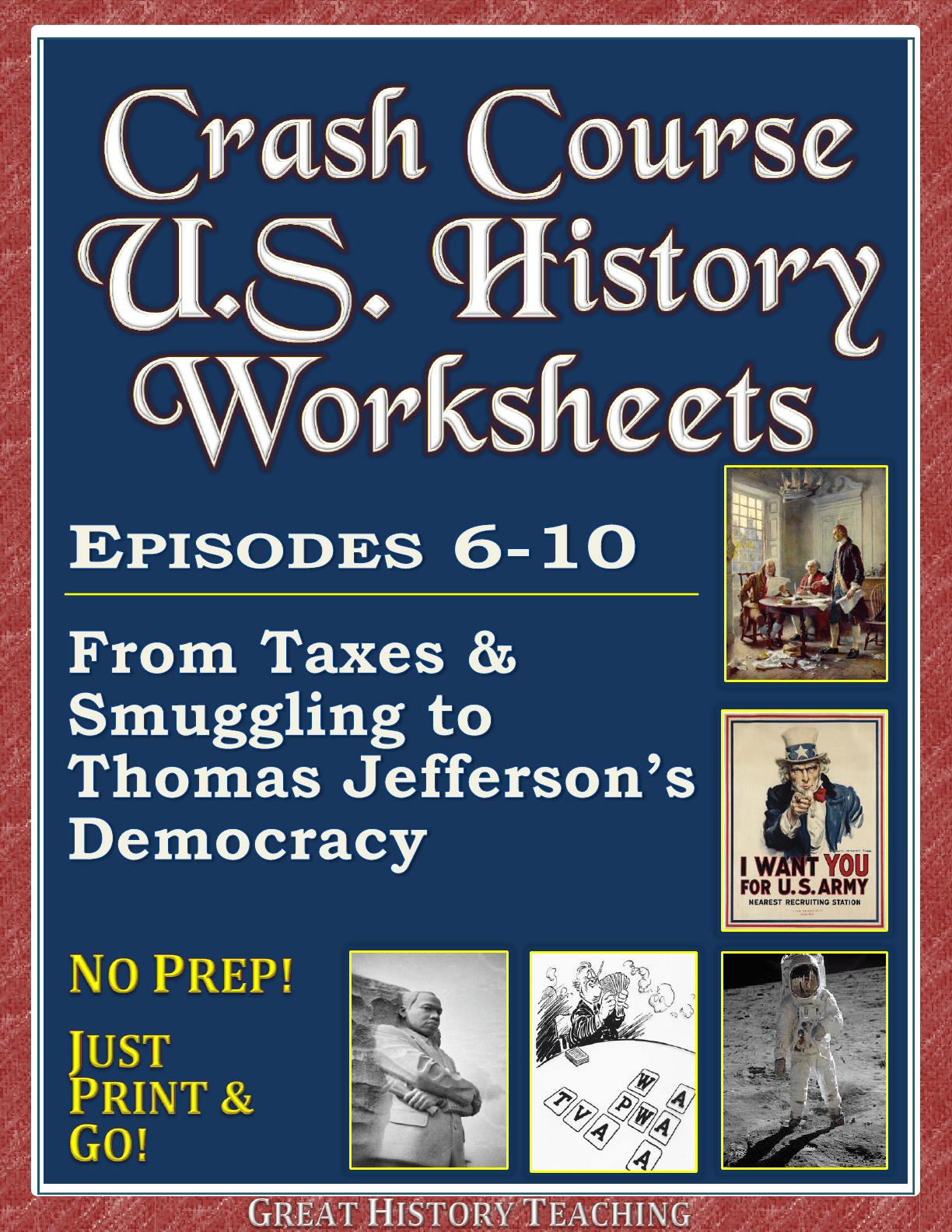 Crash Course Us History Worksheets Episodes 6 10