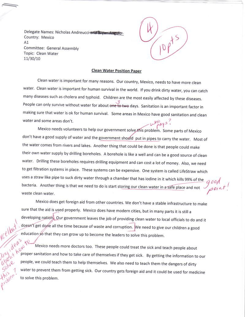Position Essay Examples Position Paper Examples Co What Is A Thesis
