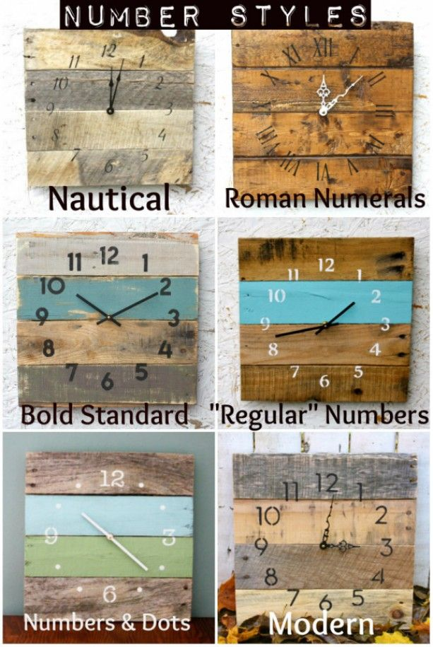 Rectangular Pallet Wood Clock Beach House Style Wall Clock